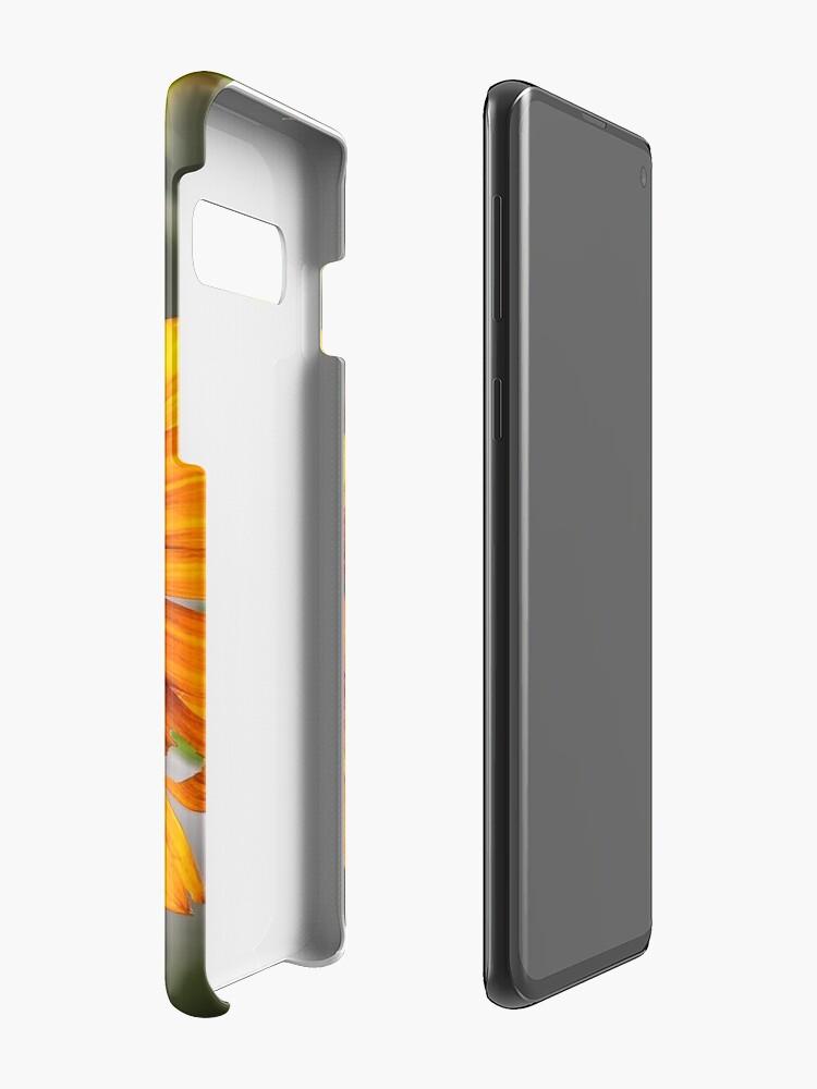 Alternative Ansicht von Orange Sonnenblume Hülle & Klebefolie für Samsung Galaxy