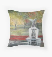 Central Park in  Fall  at the Bethesda  Fountain      ( My Paintings ) Throw Pillow
