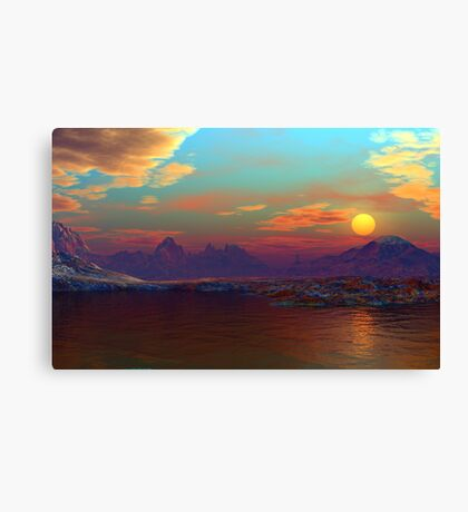 Coppermine Sunrise/Sunset  Canvas Print