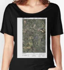 USGS TOPO Map Idaho ID Sand Mountain 20110208 TM Women's Relaxed Fit T-Shirt
