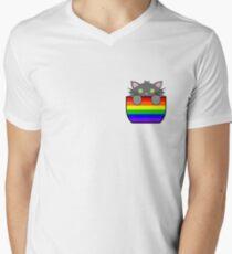 Gay Grey Pocket Cat T-Shirt