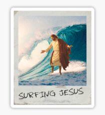 Surfing Jesus Sticker