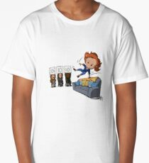 Nicole Haught: Lesbian Couch Vaulting Gold Long T-Shirt