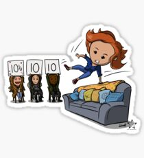 Nicole Haught: Lesbian Couch Vaulting Gold Sticker