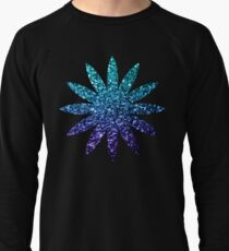 Beautiful Aqua blue Ombre glitter sparkles  Lightweight Sweatshirt