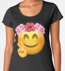 Emoji | Birthday Girl | Flower Crown Women's Premium T-Shirt
