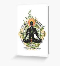 Yoga : Mind Body and Soul KUNDALINI Greeting Card