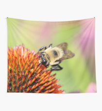 Fuzzy bumble Wall Tapestry