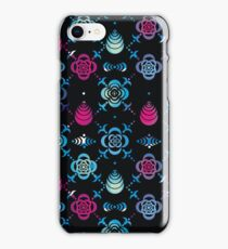 Ornaments from stencil of flowers  iPhone Case/Skin
