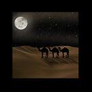 Desert Moon - Camel Crossing by Gravityx9