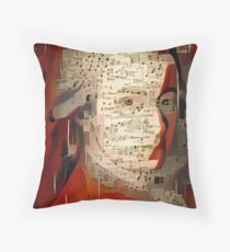 Mozart in music sheets Throw Pillow