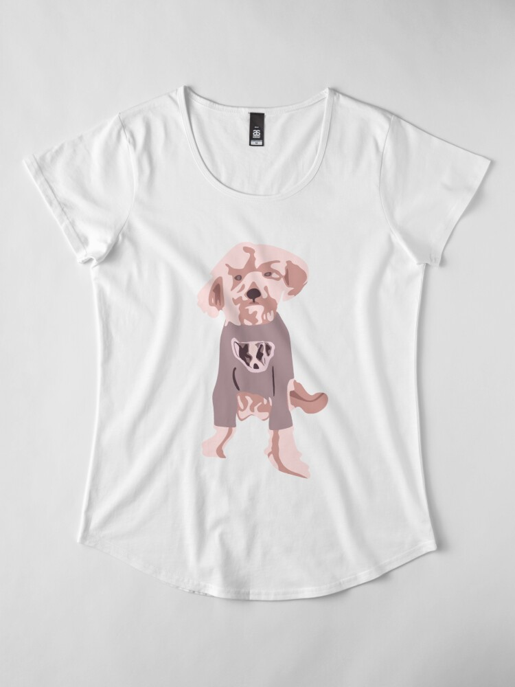 Vista alternativa de Camiseta premium de cuello ancho Ellen DeGeneres - The Ellen Show Dog Tee