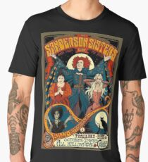 Sanderson Sisters Vintage Tour Poster Men's Premium T-Shirt