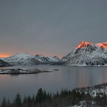 Austnesfjord at Sunset, Lofoten, Norway by kasianowak