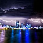Perth Lightning Storm by Paul Pichugin