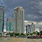 Bangkok River Skyline  by Remo Kurka