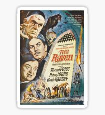 The Raven - Vincent Price, Boris Karloff. Sticker