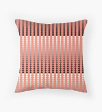 Satin Dots, Coral and Pewter Throw Pillow