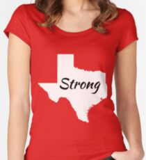 Texas Strong Women's Fitted Scoop T-Shirt