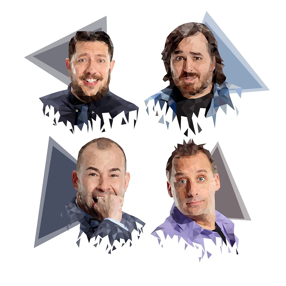 Impractical Jokers Group LowPoly Design by georgiamai