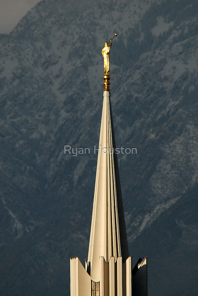 Angel Moroni - Jordan River LDS Temple by Ryan Houston