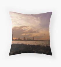 Burleigh Beach Throw Pillow
