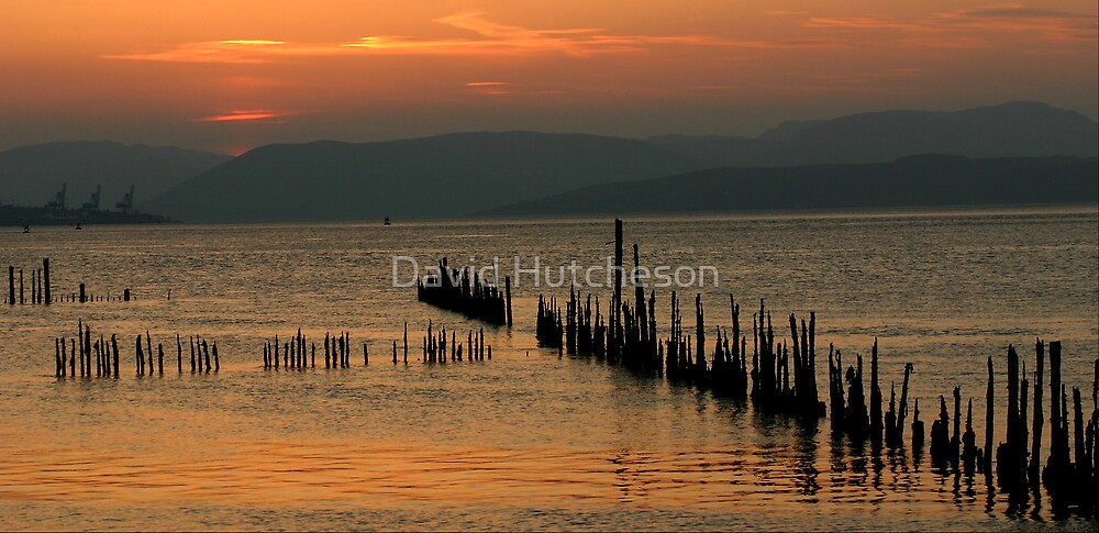 Stabs sunset with cranes by David Hutcheson