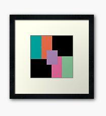 Layered Blocks  Framed Print