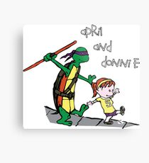 April and Donnie Metal Print