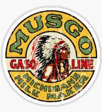 Musgo Gasoline Sticker