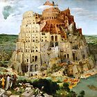 The Tower of Babel by Pieter Bruegel fine art print faithfully restored to it's original beauty. Peter Bruegel, Pieter Bruegel the Elder. by Igor Drondin