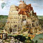 Der Turm von Babel von Pieter Bruegel Fine Art print originalgetreu restauriert zu seiner ursprünglichen Schönheit. Peter Bruegel, Pieter Bruegel der Ältere. von Igor Drondin