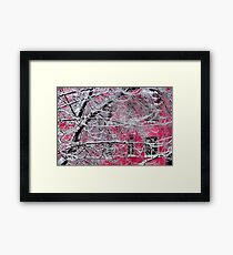 Winter in a Pink Town Framed Print