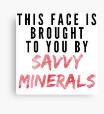 Savvy Mineralien Leinwanddruck
