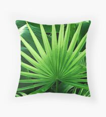Tropical Leaves, Windmill Palm Throw Pillow