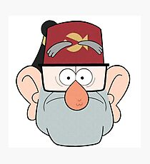 Stan Pines Paper Fez Face Mask Photographic Print