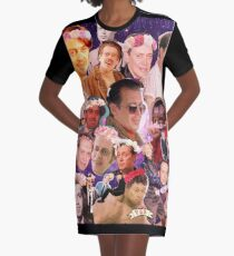 Steve Buscemi Galaxy Collage T-Shirt Kleid