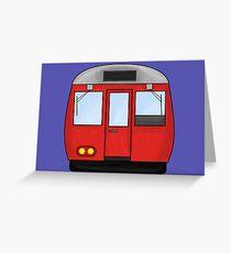 Underground Train London Greeting Card