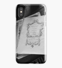 Piano and sheet music iPhone Case/Skin