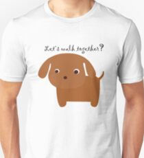 T-shirt Let's walk together very funny T-Shirt