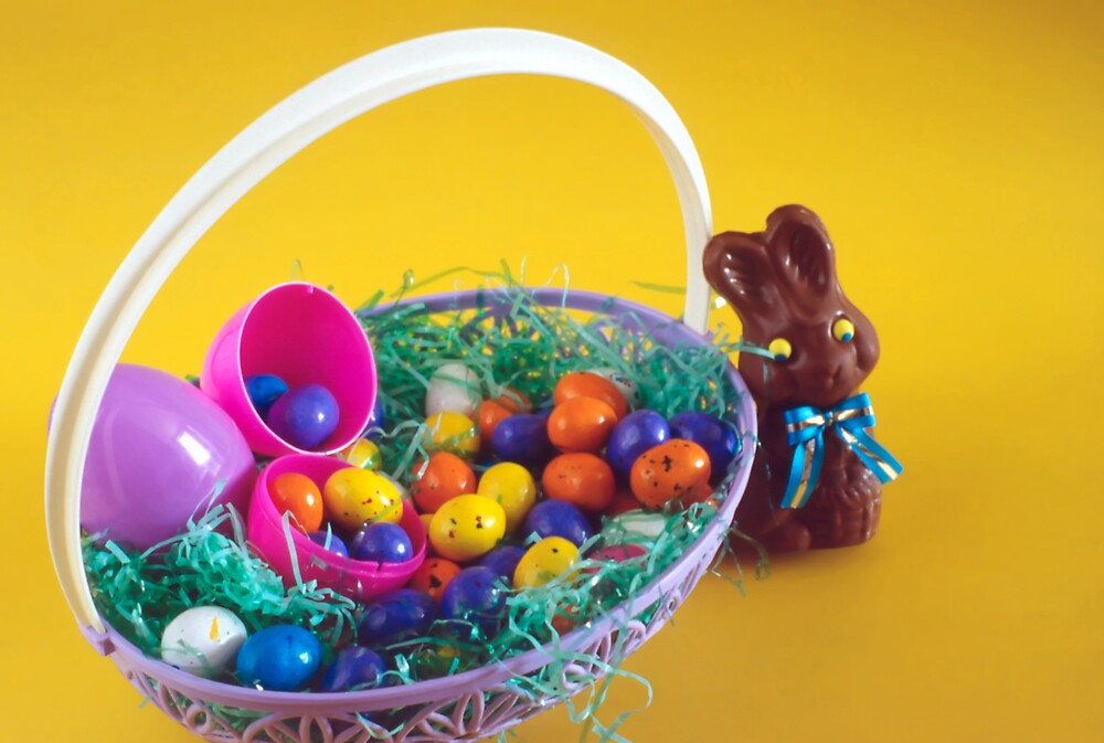 Chocolate Bunny & Easter Basket by SteveOhlsen