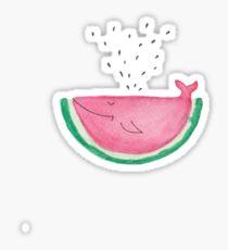 watercolor watermelon whale Sticker