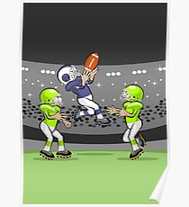 Football player sensational jump Poster