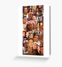 Nic Cage Collage Greeting Card