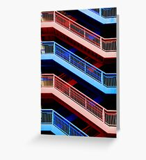 Red or Blue Greeting Card