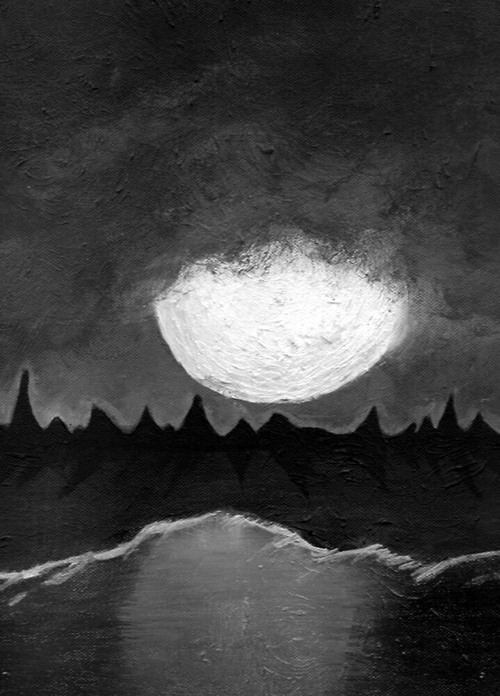 The Moon by heathermoon