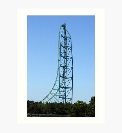 Kingda Ka - Worlds Tallest and Fastest Roller Coaster Art Print