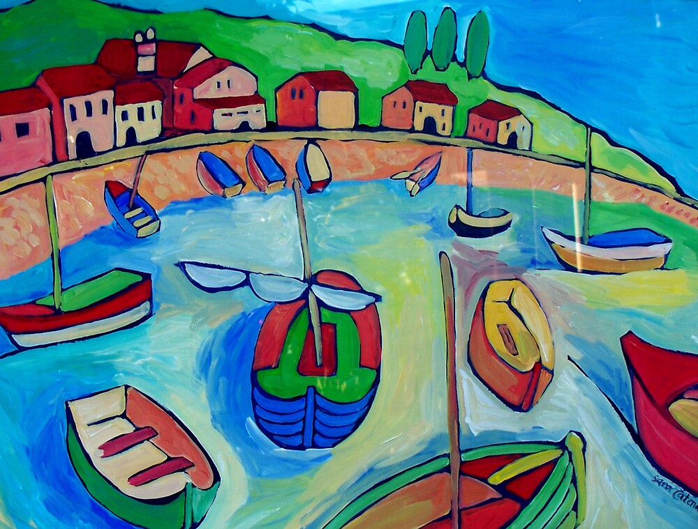 SORRENTO - ITALY by ART PRINTS ONLINE         by artist SARA  CATENA