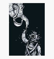 Astronaut and Diver - Last Frontiers  Photographic Print