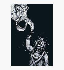 Lámina fotográfica Astronauta y buzo - Últimas fronteras